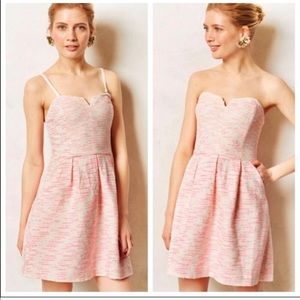 Anthro Moulinette Soeurs Pink Tweed Dress | 2